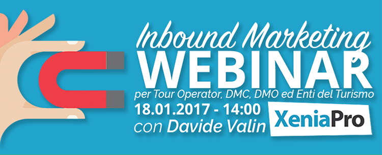 Inbound Marketing Webinar per Tour Operator, DMC, DMO ed Enti del Turismo