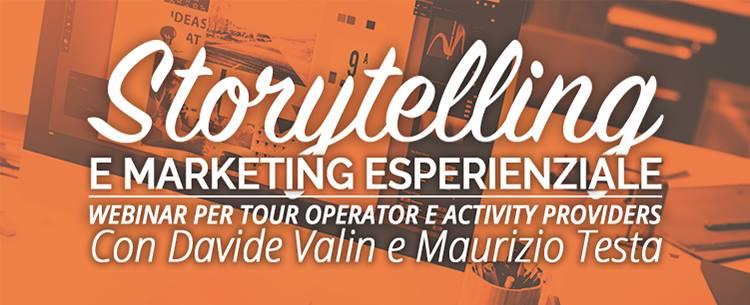 Webinar Storytelling e Marketing Esperienziale per Tour Operator