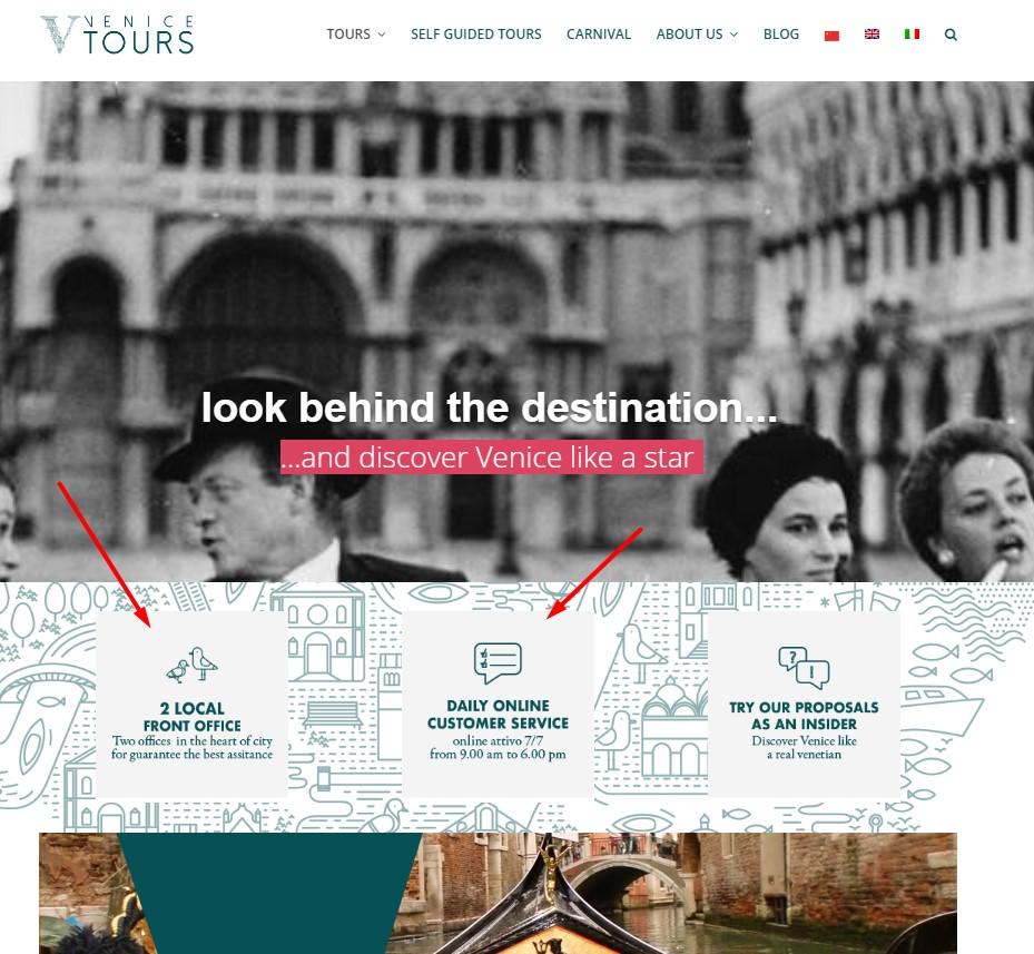 Siti web Turismo 5 consigli per aumentare le prenotazioni dirette (4)_Venice City Tours