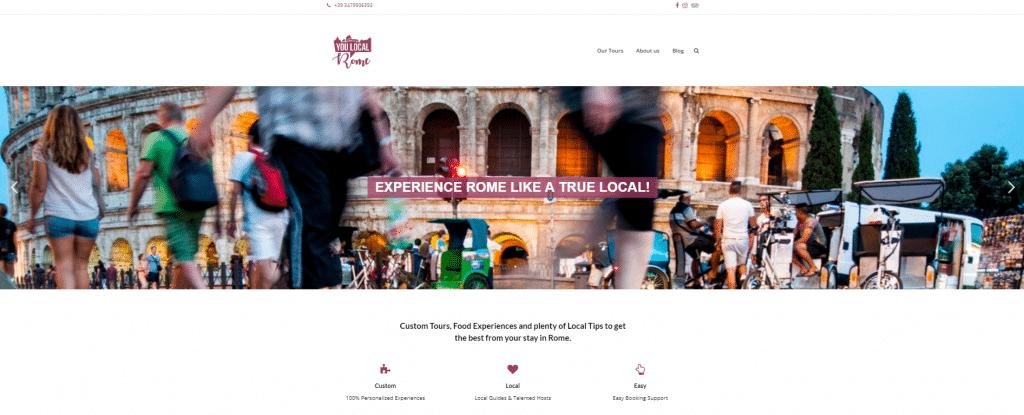 esempi siti web_you local rome_homepage